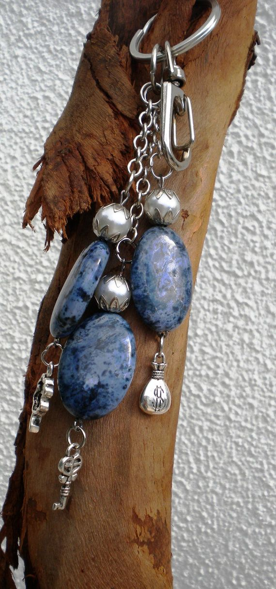 Keychains  Stones Keychains  Beaded Keychain  by MoonsTouch.