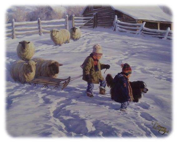 Obrázky - děti venku (zima) « Rubrika   OBRÁZKY PRO VÁS