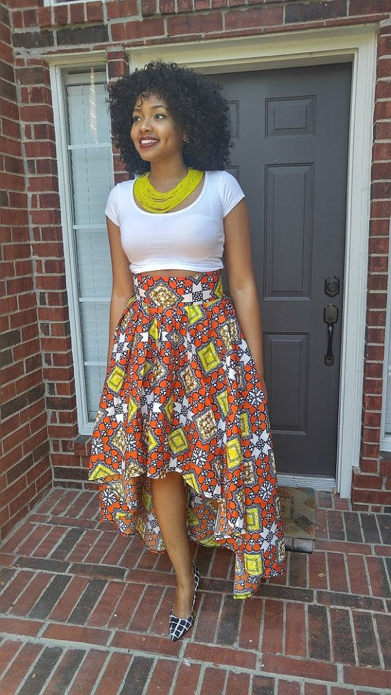 Ankara skirt African skirt African wax High Low skirt by Oludan