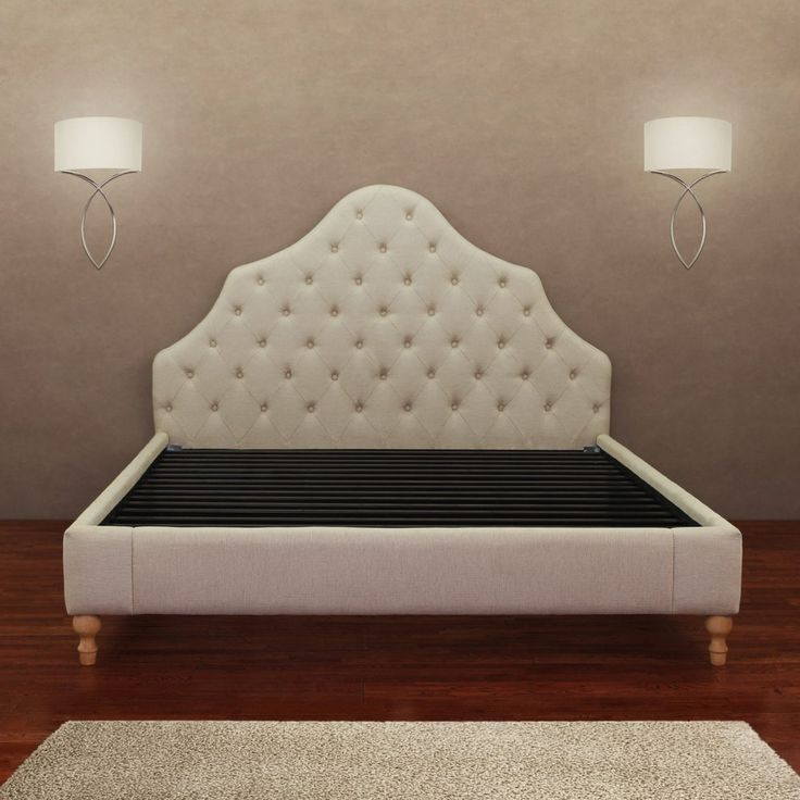 Alice Button Tufted Queen Bed Frame Bedrooms Tufted Bed