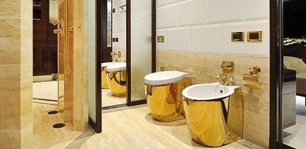 Empresa italiana cria vasos sanitários de ouro para iates de luxo