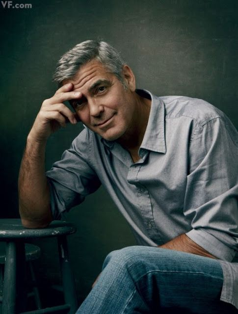 Annie Liebovitz George The way she has got a natural look in the picture of George clooney. i like the effect of the camera has done to george