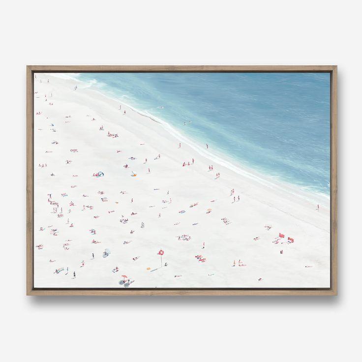 Sunbathers Canvas Art Aerial Beach Scene Painting Painted Artwork By The Print Emporium     #ThePrintEmporium #art #canvas  #wallart #white #painted #painting #australia #artwork #artprint #canvas #interior #decor #beachart #aerial #beach #surf #scandinavian #contemporary #bondi