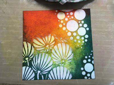 Barbara Gray's Blog. One Day at a Time.: Painty Inky Stencil Step by Step...
