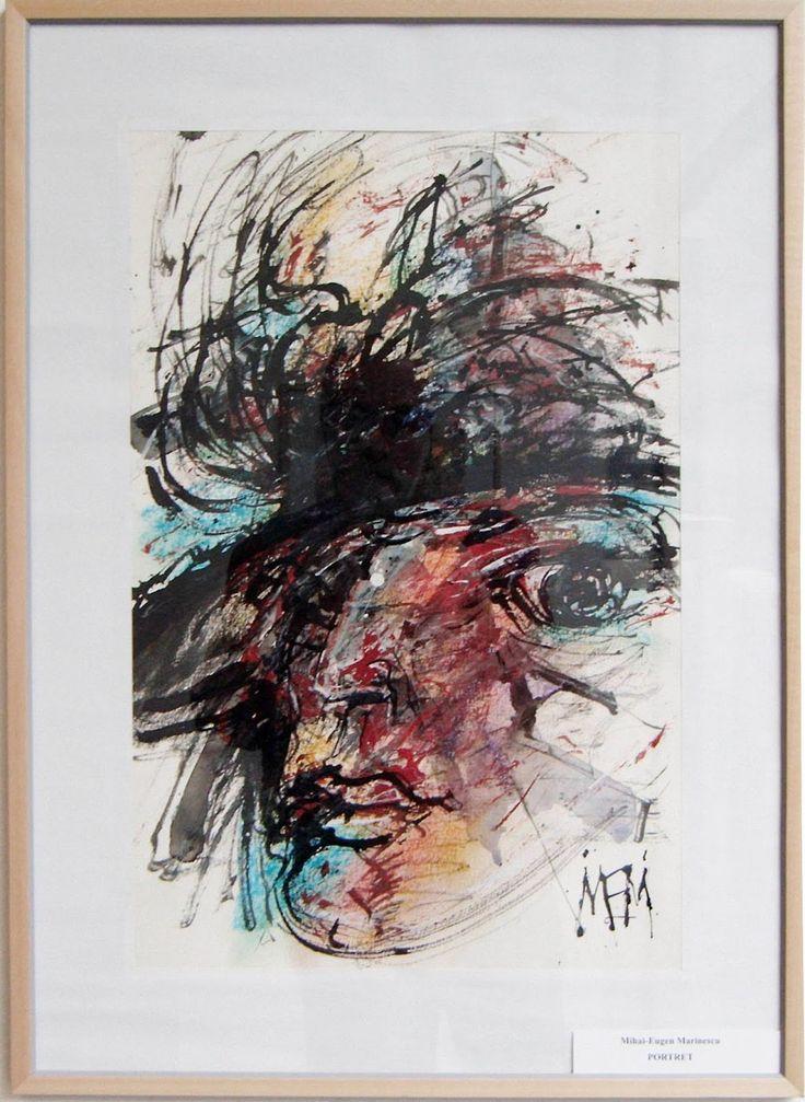 """Portret"",tehnica mixta : tus, pastel, acuarela, 37x57cm, pret 370 euro         ""Romantic Lady"",tehnica mixta : tus, creioane colorate, ..."