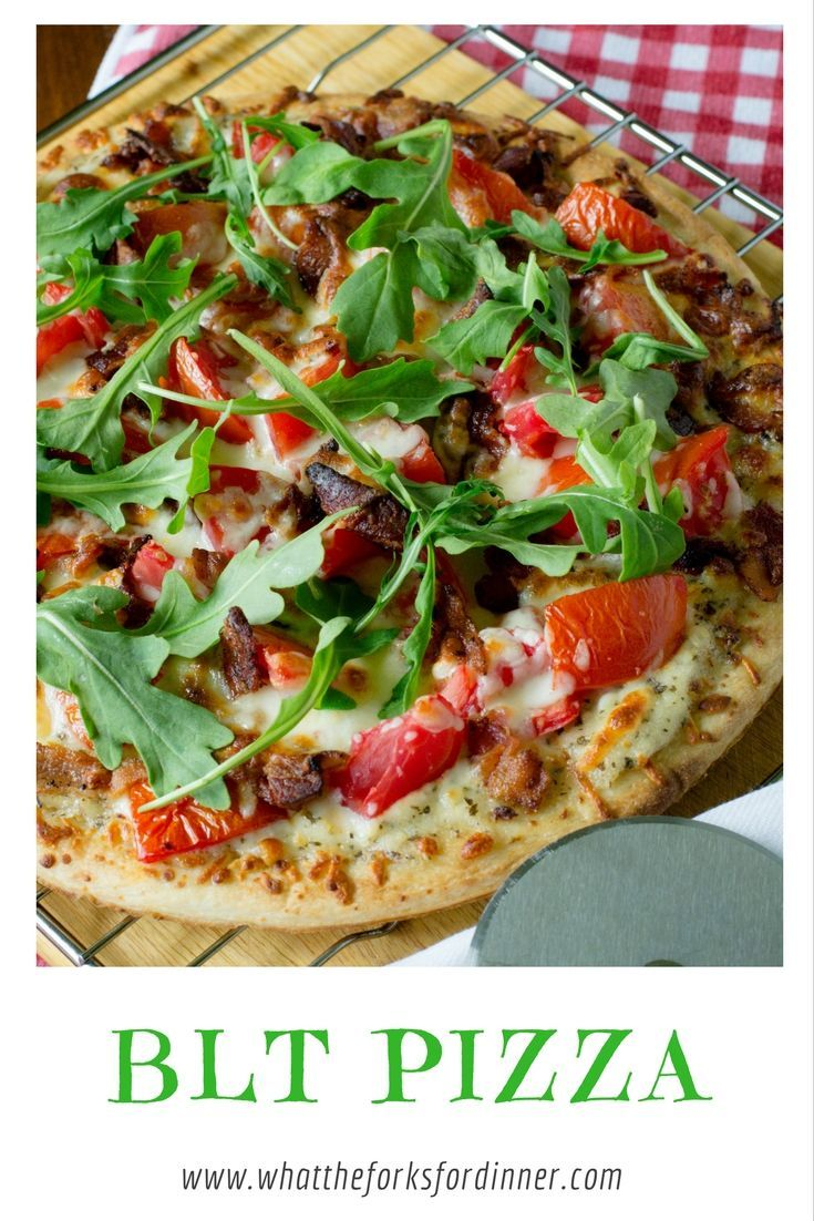Best of summer tomatoes on a BLT Pizza!!!