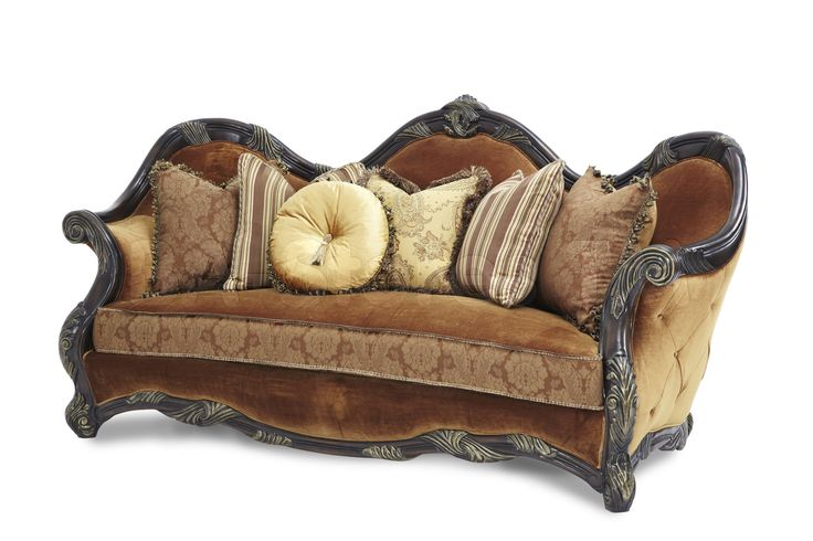 Essex Manor Wood Trim Sofa | Deep Brown by Aico