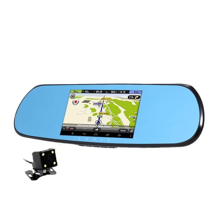 "New 5"" Android Touch Car DVR GPS Navigation Rearview Mirror Car Camera Dual Lens Wifi Dash Cam Full HD 1080P Video Recorder //Price: $92.72//     #electonics"