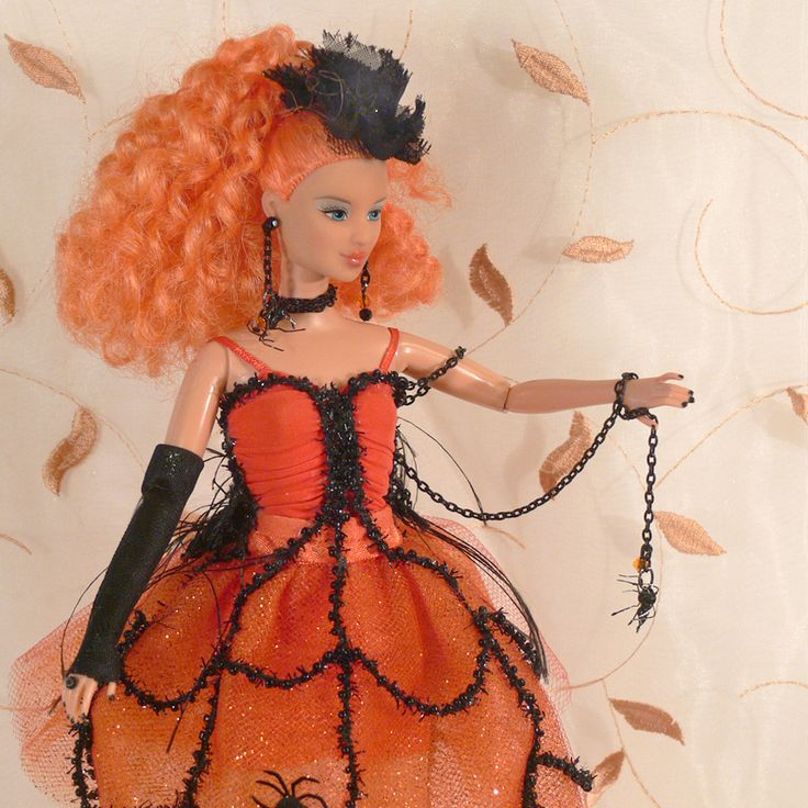 One of my favorite dolls I designed & crafted for Halloween 2013 is this One of a Kind Doll, Little Spider Keeper Girl.