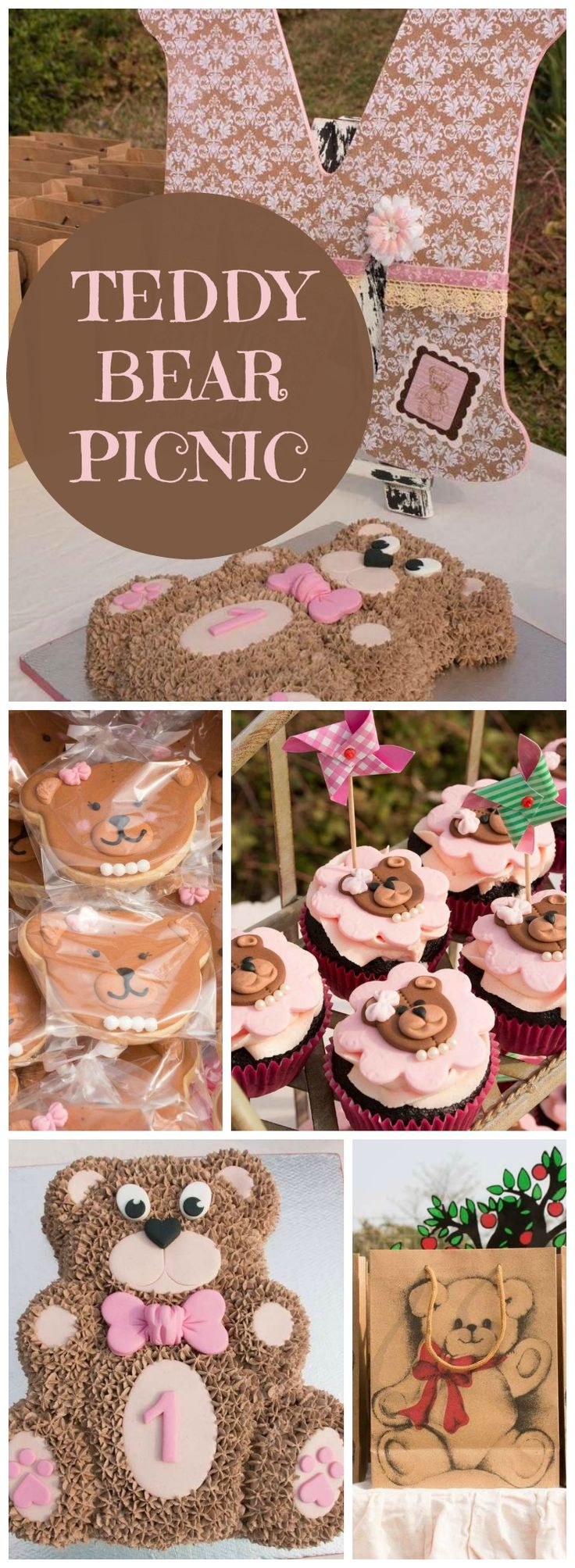 How cute is this teddy bear picnic party?! See more party ideas at CatchMyParty.com!