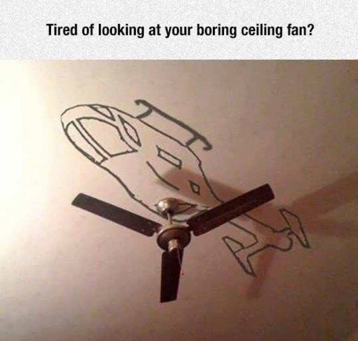 Tired of looking at your boring ceiling fan