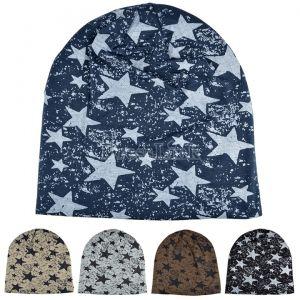 Unisex Hat Crochet Star Beanie Hat Skull Cap Ski Knit Winter Hat