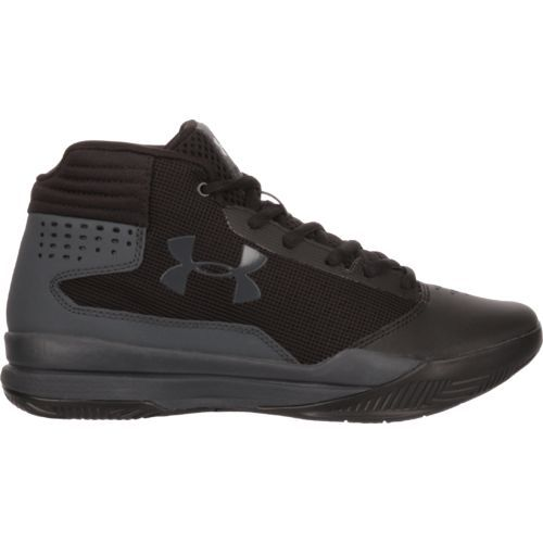 Under Armour Boys' Jet GS Basketball Shoes (Black/Dark Grey, Size 3.5) - Youth Basketball Shoes at Academy Sports