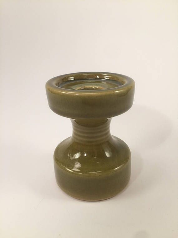 Vintage candle holder from Steuler. It has a nice green colour, no chips, but som crackles in the glaze.