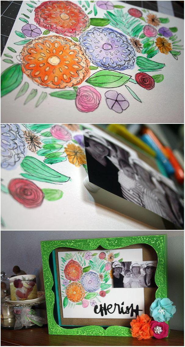 Framed Mother's Day Collage www2.fiskars.com