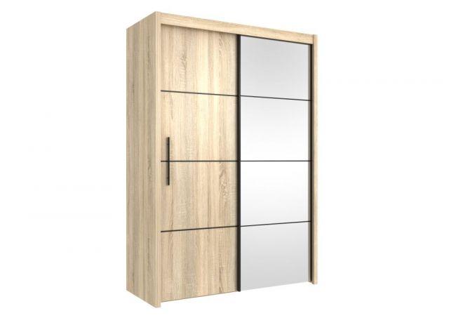 šatní skříň s posuvnými dveřmi INOVA 150 dub sonoma