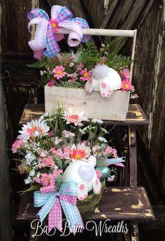 Easter Floral, Easter Arrangement, Easter Centerpiece, Spring Floral, Spring Arrangement, Spring Centerpiece, Bunny Butt – Easter