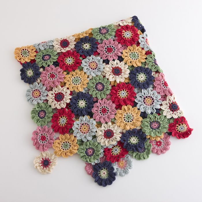 Pretty Japanese Flower Throw - pictures only.