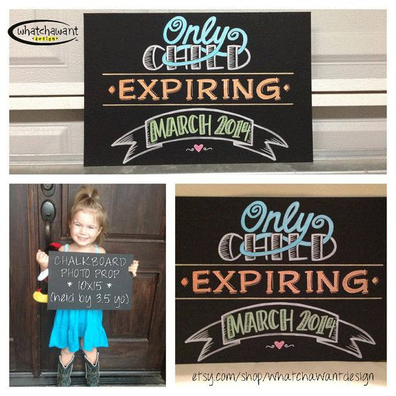 ** Perfect for SAVE THE DATE pics! ** Custom, hand-painted CHALKBOARD PHOTO PROP sign!  Pin now to find later! Custom HandPainted 10x15 CHALKBOARD baby by WhatchawantDesign