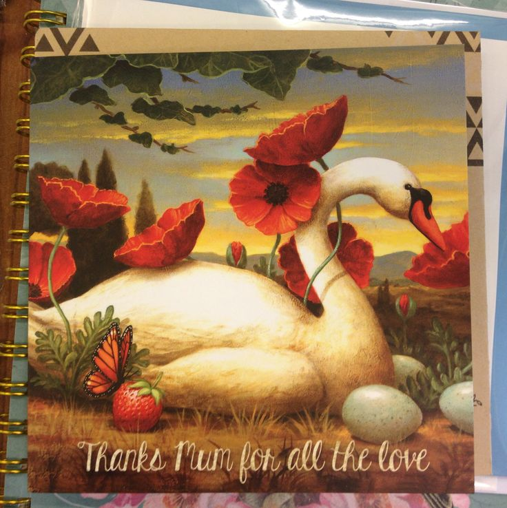 Greeting card - thanks mum for all the love. Beautiful card from lala land.
