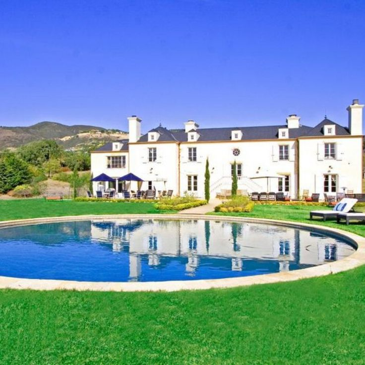 "Singer-songwriter Pink filmed the music video for her song ""Blow Me (One Last Kiss)"" at this French-inspired chateau in Malibu, Calif. Imagine a big pink stain on the grass just to the left of the massive, circular saltwater pool: That's where red rain fell during the video's wedding scene."