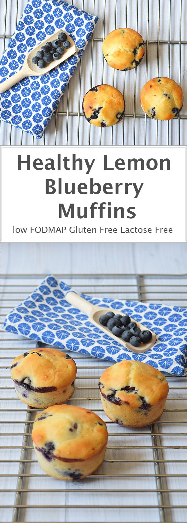 Delicious lemon blueberry muffins. Only 141 calories a piece! Low FODMAP…