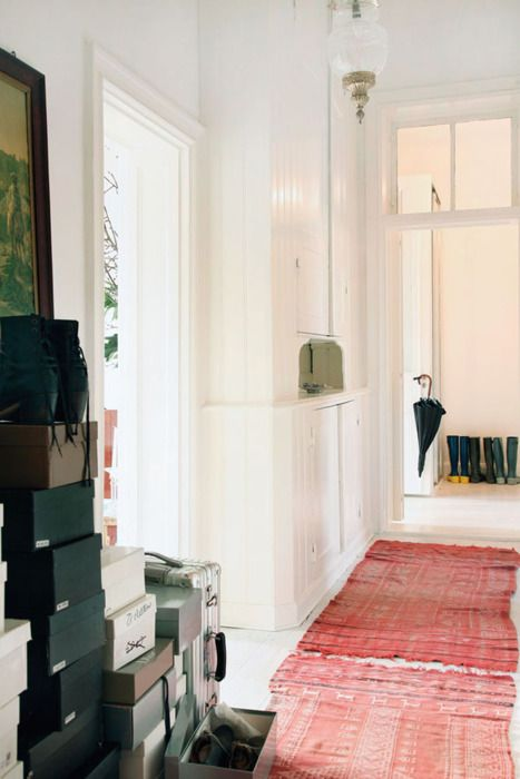#carpets #White painted floor boards