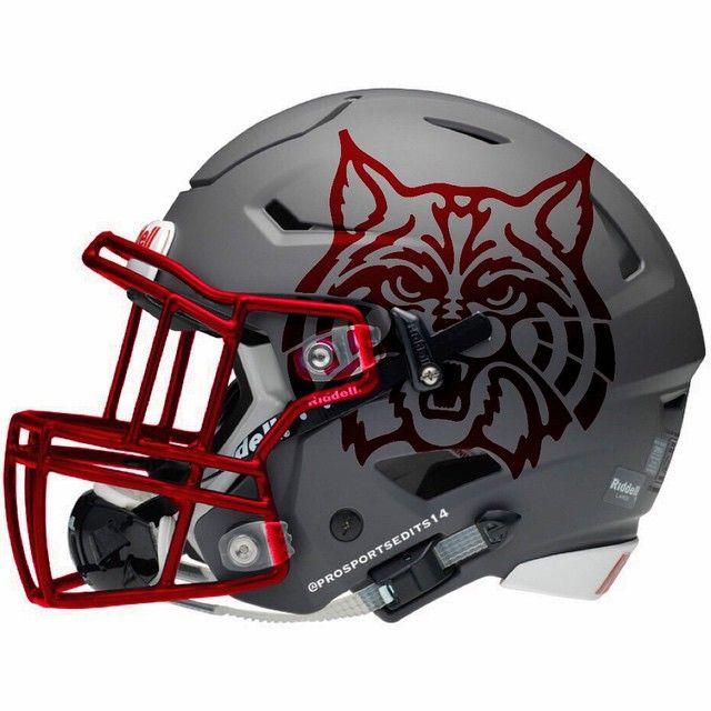 Arizona Wildcats Matte Grey Riddell SpeedFlex concept helmet