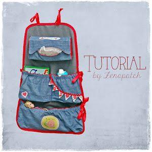 Paso a paso para hacer un organizador de coche. Cuando tienes niños pequeños, todos los bolsillos para guardar sus cosas son pocos. ;)