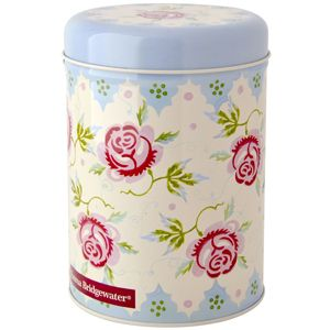 Tea Coffee Sugar Cannister Rose and Bee | storage tin | home & kitchen decor