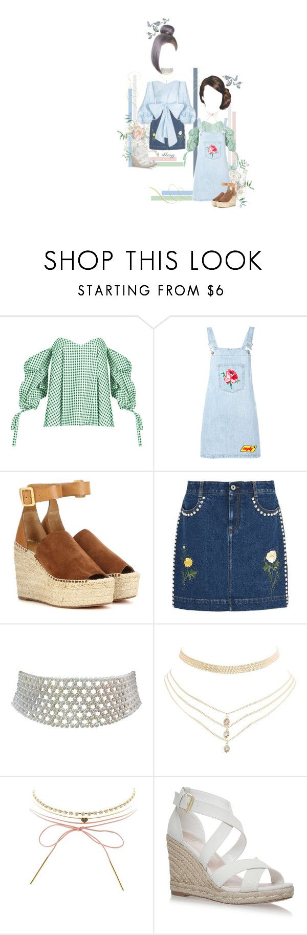 """spring forward, fall back."" by ekhayz ❤ liked on Polyvore featuring Caroline Constas, Au Jour Le Jour, Chloé, STELLA McCARTNEY, Marina J., Charlotte Russe, ootd, StellaMcCartney, aujourlejour and carolineconstas"