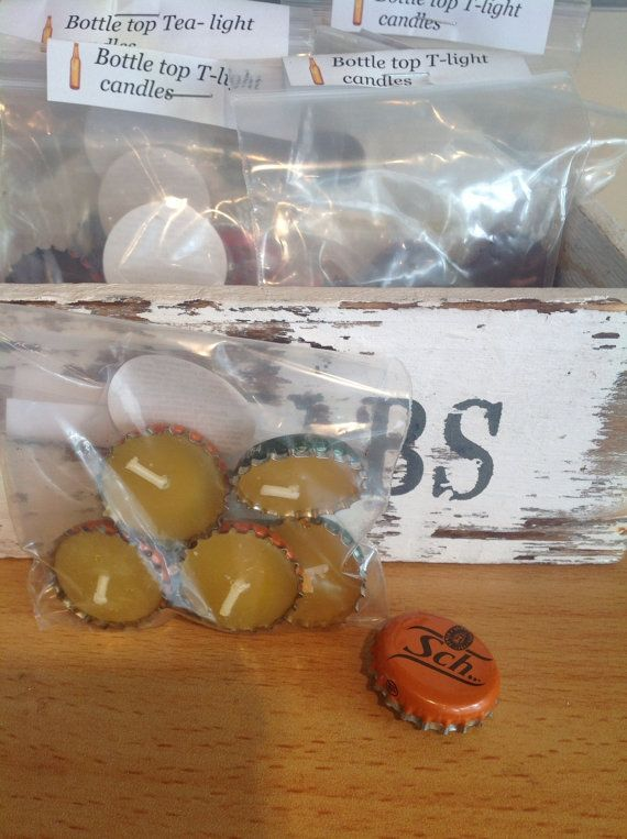 Recycled Bottle Cap/ top tea lights. Scented and by artofcandles, £1.00