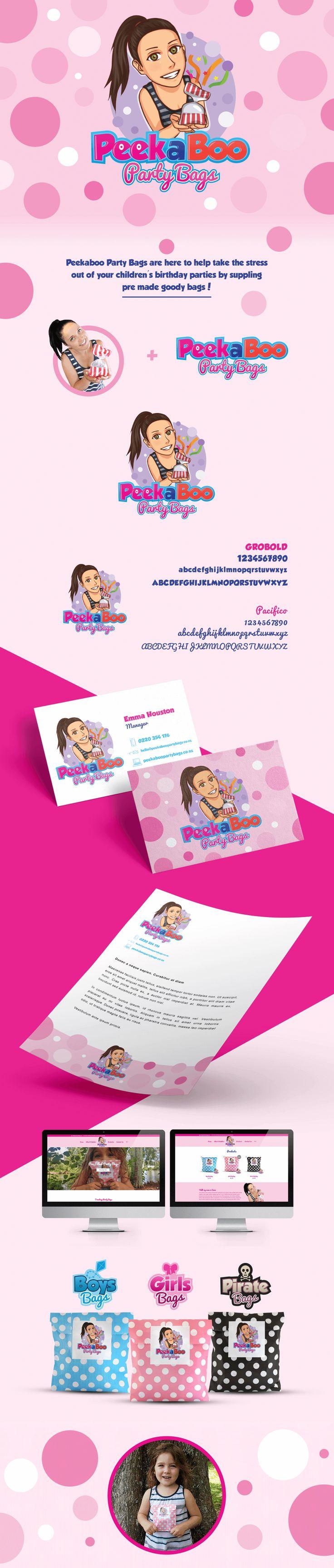 Peekaboo Party Bags - Brand Identity #Branding #GraphicDesign