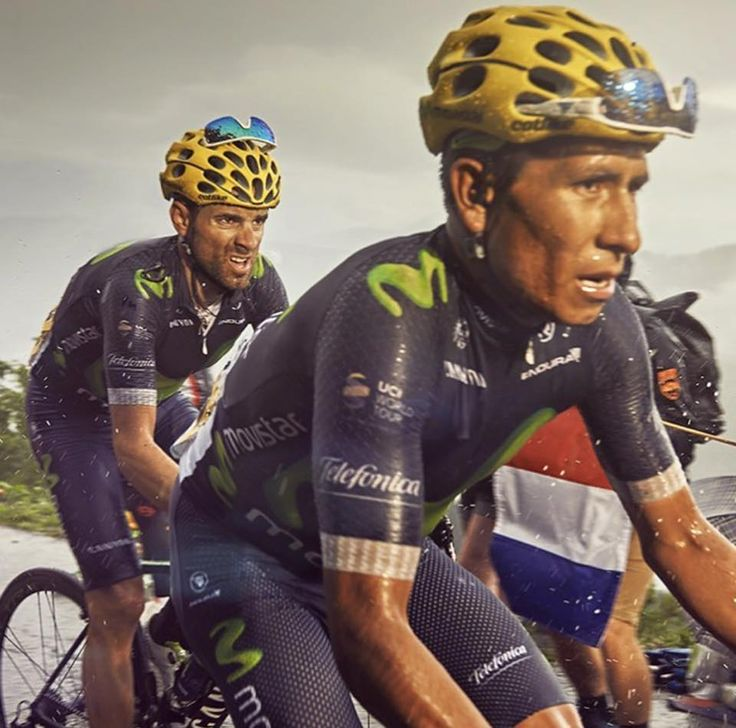 SUFFER FACES!!!  Nairo Quintana & Alejandro Valverde at the recent #tourdefrance Superb shot by @tino_pohlmann_photography