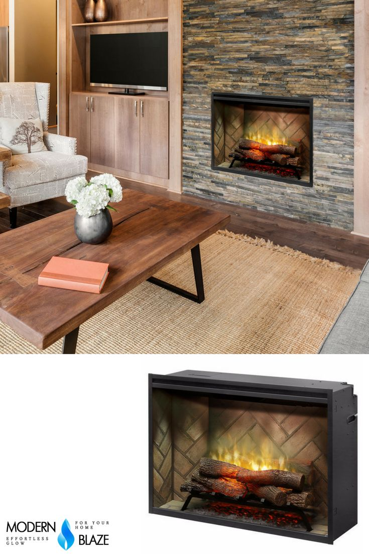 This Dimplex firebox is the most sustainable fireplace option; no emissions and 100% efficient. Can be built-in or inserted into old fireplace.