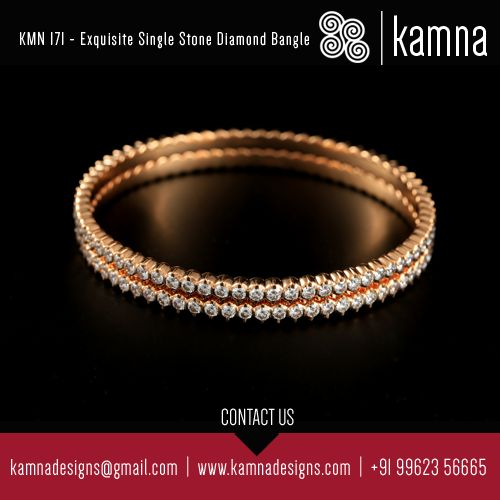 KMN 171 - Exquisite Single Stone Diamond Bangle