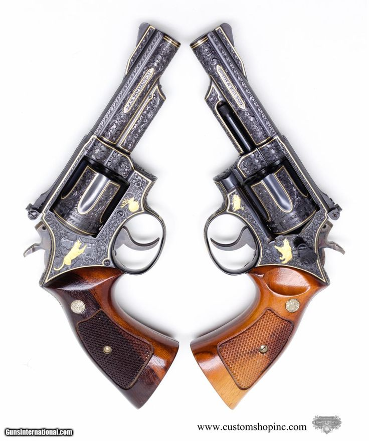 Pair Of Smith & Wesson Model 19-3's .357 Magnums. Consecutively Numbered. Fully Engraved And Matching. VERY RARE!!