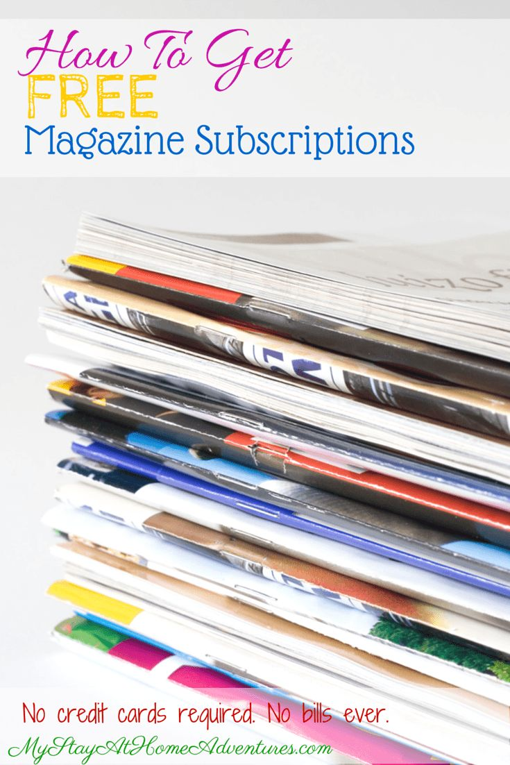 Learn to get the latest Free Magazine Subscriptions available online! No Bills. No credit cards.