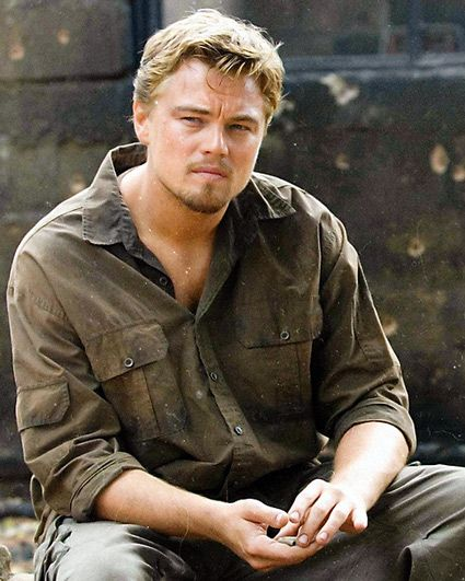 Blood Diamond - Leonardo DiCaprio - Danny Archer Because it's my favorite movie with this guy and, well... the only crush I've ever had as a grownup.