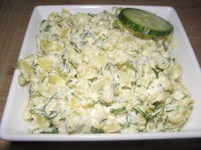 Sałatka norweska do grilla Szybka, smaczna sałatka ziemniaczana, która najlepiej smakuje przy grillu do pieczonego mięska, kiełbaski i zimnego piwka:). Bana...