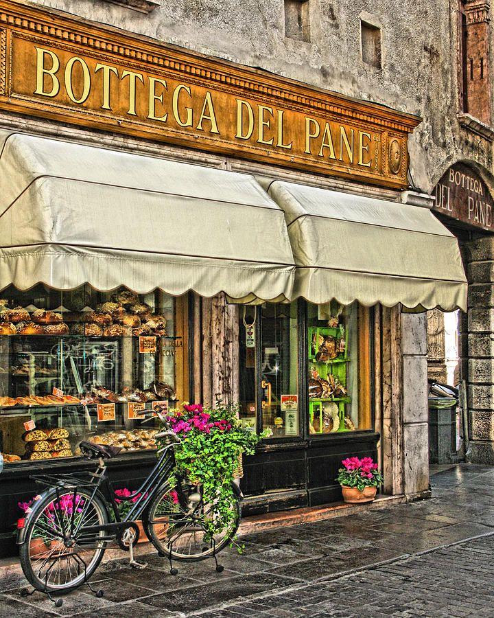 Bottega Del Pane Italian Bakery Ve Bisiklet Dijital Sanat 2nice..4.9.16