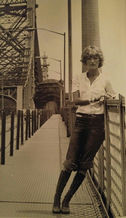 Loulou de la Falaise in New York.  Photo by Gerard Malanga, 1971.