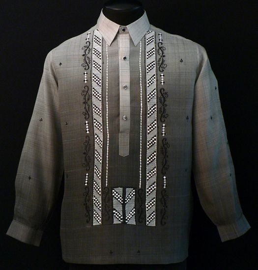 Barong for wedding chinese collar dresses