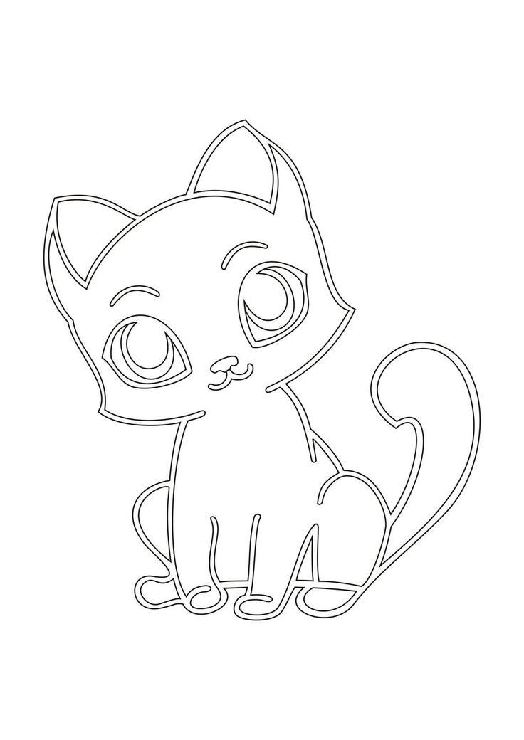Картинка для рисования котенок