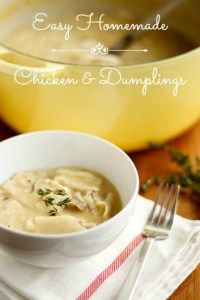 Easy Homemade Chicken and Dumplings -- this chicken and dumplings recipe is the ultimate quick and easy comfort food, with a taste every bit as delicious as the Cracker Barrel version! | via @unsophisticook on unsophisticook.com