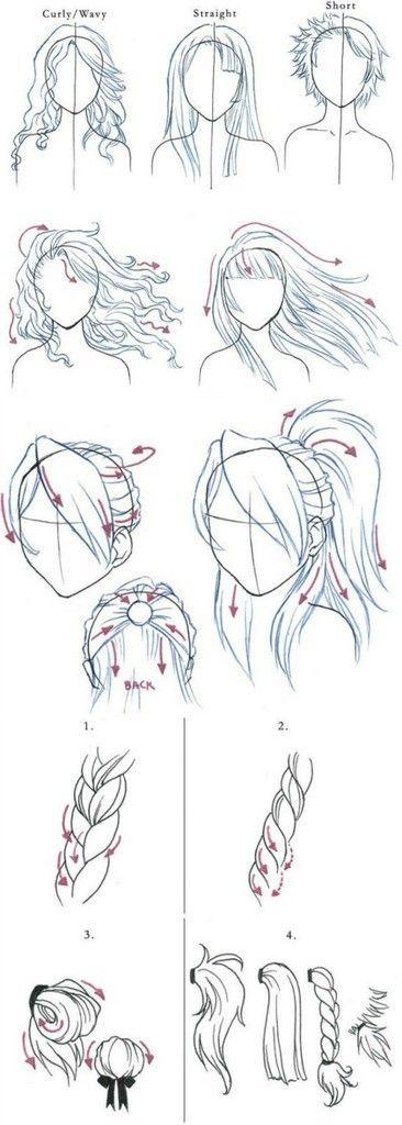 关于头发的画法【熊小雪】…_来自demon不哭的图片分享-堆糖网