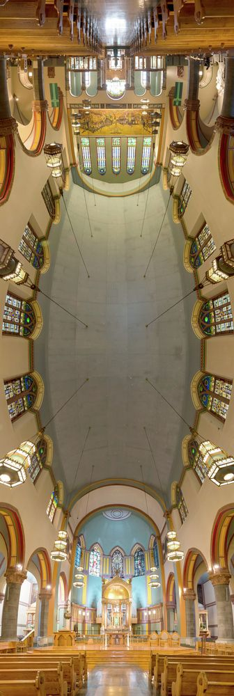 Richard Silver's Stunning Vertical Panoramas of New York Churches,Church of St. Paul the Apostle. Image © Richard Silver Photo