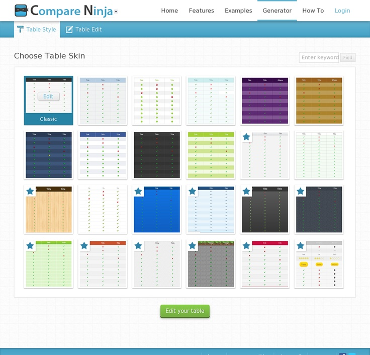 Best Ui  Tables Images On   Pricing Table Design Web