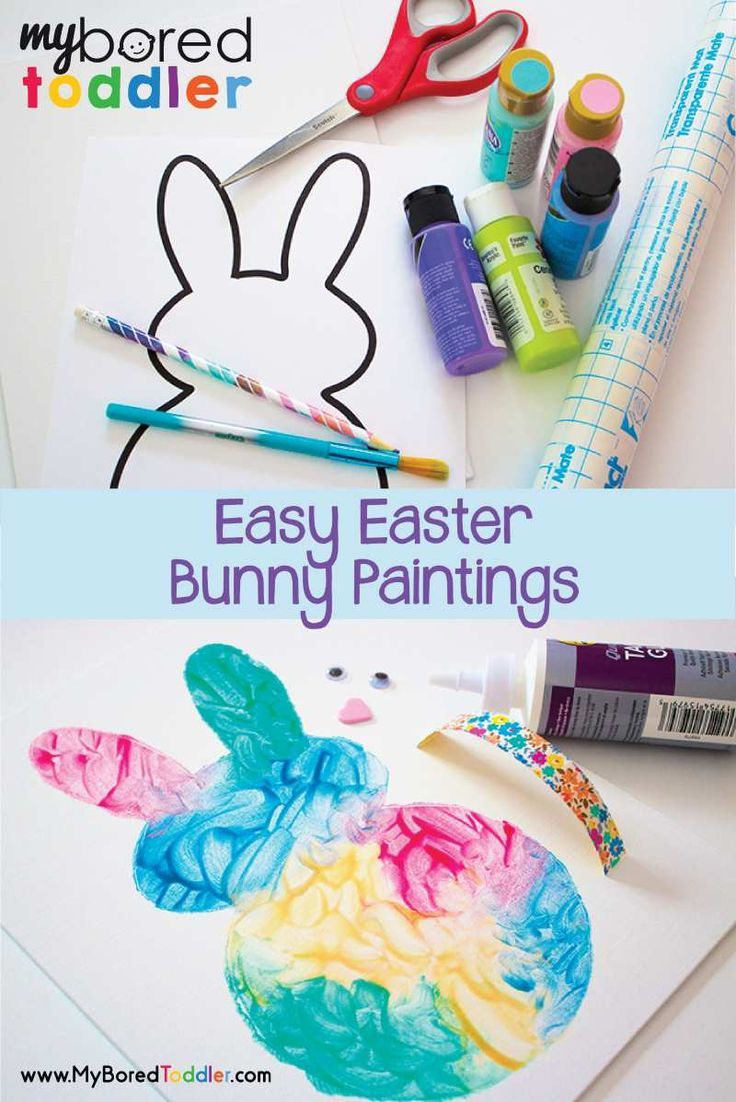 Easy Easter Bunny Painting Activity239 best Spring Activities images on Pinterest. Easy Easter Crafts For Two Year Olds. Home Design Ideas