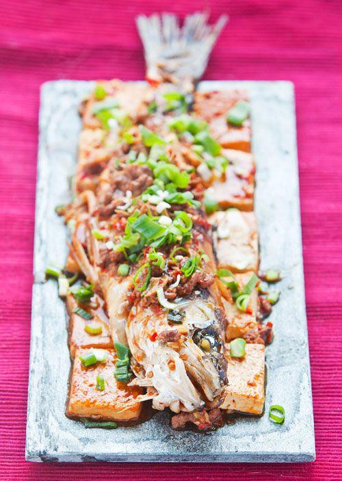 Chilli Bean Paste Fish and Tofu Chinese new year dish